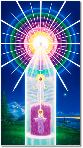 The Chart of Your Divine Self is a portrait of you and the God within you. It is a diagram of yourself and your potential to become who you really are. It is an outline of your spiritual anatomy.